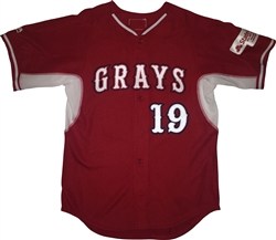 Authentic Majestic Sayville Grays Cool Base BP Jersey