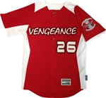 Authentic Long Island Vengeance Majestic Cool Base Jersey