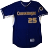 Authentic Comsewogue Warriors Majestic Cool Base BP Jersey