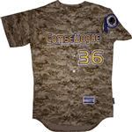 Pro Style Comsewogue Warriors Majestic Camo Cool Base Jersey
