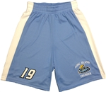 Long Island Thunder Wicking Mesh Carolina Blue Game Shorts Adult