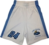 Long Island Thunder Wicking Mesh White Game Shorts Youth