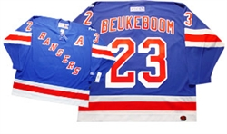 Official CCM 550 New York Rangers #23 Jeff Beukeboom Jersey