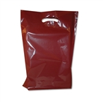 "11"" x 15"" x 3"" Value Color Burgundy Plastic Bags"