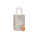 Champagne Chic White Kraft paper shopping bags