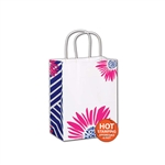 Petals on White Cub paper shopping bags