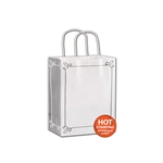 Silver Verona on White Cub paper shopping bags