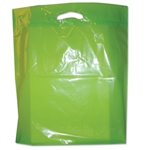 "16"" x 18"" x 4"" Value Lime Green Plastic Bags"