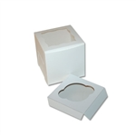 Single Cupcake Box in White with window