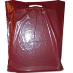 "21"" x 24"" x 5"" Value Burgundy Plastic Bags"