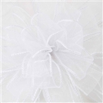 Wired White Holiday Sheer Ribbon
