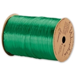 Wraphia Ribbon Pearlized Kelly Green