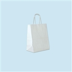 Small White Kraft Shopping Bag