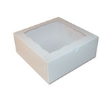 6 Cupcake Box in White with window
