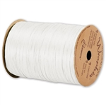 Wraphia Ribbon Matte White