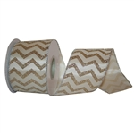Wired Gold Chevron Ribbon