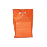 "9"" x 12"" x 2"" Orange Plastic Bags"
