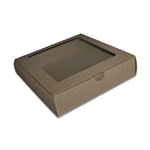 Eflute Boxes-Large Kraft Square with Windows