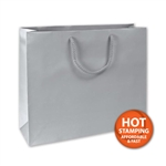 Matte Laminated Silver Large Bags