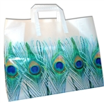 Frosted Fashion Reusable Peacock Feathers Bags