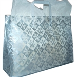 Frosted Fashion Reusable Silver Snowflake Check Bags