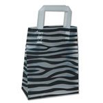 "Frosted Bags Petite - Zebra Nuevo 100 Bags/Case - 8"" x 4"" x 10"""