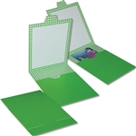 Green Gift Card Bill Folders