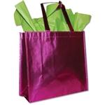 "Heavy Metallic Silver Reusable bags 15-1/2"" x 14-1/4"" x 6"""