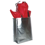 Heavy Metallic Silver Reusable bags 9 x 12 x 5""
