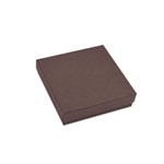 "Brown Kraft Jewellery Boxes - 3-1/2"" x 3-1/2"" x 7/8"""