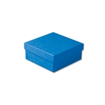 "Dark Blue Kraft Jewellery Boxes - 3-1/2"" x 3-1/2"" x 1-1/2"" 100 Boxes/Pack"