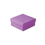 "Purple Kraft Jewellery Boxes - 3-1/2"" x 3-1/2"" x 1-1/2"" 100 Boxes/Pack"