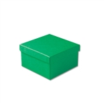 "Dark Green Kraft Jewellery Boxes - 3-1/2"" x 3-1/2"" x 1-7/8"" 100 Boxes/Pack"