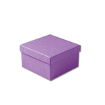 "Purple Kraft Jewellery Boxes - 3-1/2"" x 3-1/2"" x 1-7/8"" 100 Boxes/Pack"