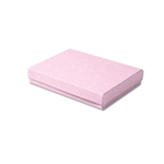 "Pink Kraft Jewellery Boxes - 5-7/16"" x 3-1/2"" x 1"" 100 Boxes/Pack"