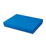 "Dark Blue Kraft Jewellery Boxes - 7"" x 5"" x 1-1/4"" 100 Boxes/Pack"