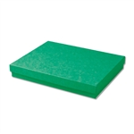 "Dark Green Kraft Jewellery Boxes - 7"" x 5"" x 1-1/4"" 100 Boxes/Pack"