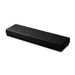 "Black Kraft Jewellery Boxes - 8"" x 2"" x 7/8"" 100 Boxes/Pack"