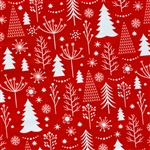 Gift Wrap Holiday Trees Christmas Pattern