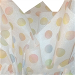 Watercolor Dots Printed Tissue Paper