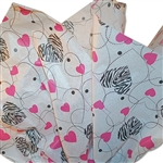 Zebra Hearts Patterned Tissue Paper