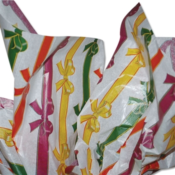 Rows of Bows Patterned Tissue Paper
