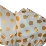 Gold Dots Patterned Tissue Paper