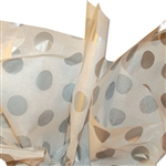 Silver Dots Patterned Tissue Paper
