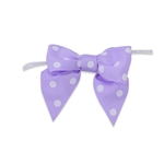 Pre-Tied Dots Grosgrain Twist Tie Bows - Light Orchid