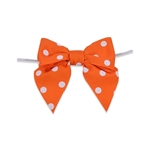 Pre-Tied Dots Grosgrain Twist Tie Bows - Torrid Orange