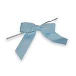 Pre-Tied Grosgrain Twist Tie Bows - Light Blue