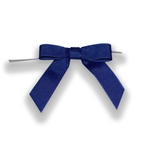 Pre-Tied Grosgrain Twist Tie Bows - Royal Blue
