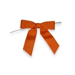 Pre-Tied Grosgrain Twist Tie Bows - Torrid Orange