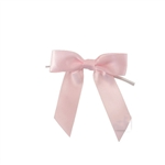 Pre-Tied Satin Twist Tie Bows - Light Pink
